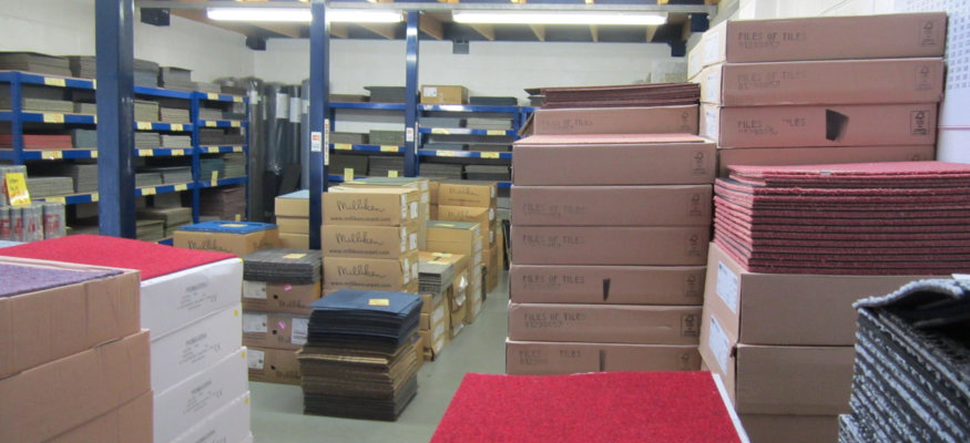 Carpet Tiles Stock