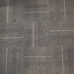 Grained Grey Carpet tile, fibre bonded