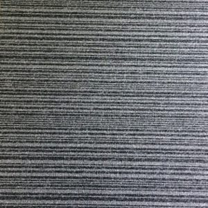 "Burmatex ""Go To Coal Stripe"" Loop Pile Carpet Tile in Greye"